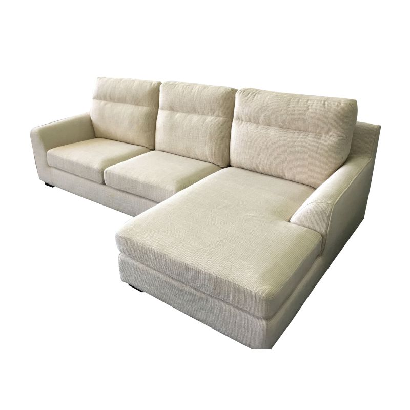 Ashley 3 seat sofa with chaise lounge in beige buy for 3 seater chaise lounge