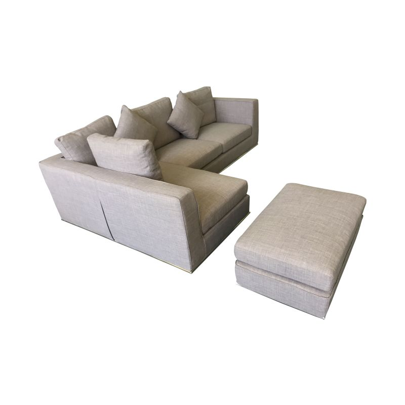 Laura sectional 5 seat sofa w ottoman chaise lounge buy for Buy chaise lounge sofa