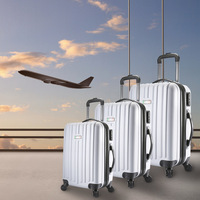 3 Size Lightweight 4 Wheel Hard Case Luggage Set
