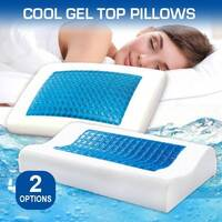 Memory Foam Pillow with Cool Gel Top – 2 Styles