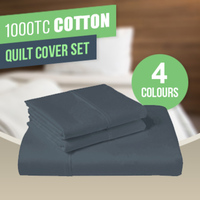 1000TC Cotton Quilt Cover Sets - Assorted Colours!