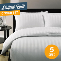 5 Star Hotel Quality Striped Quilt Cover Set