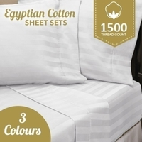 Luxurious 1200TC Egyptian Cotton Striped Sheet Sets