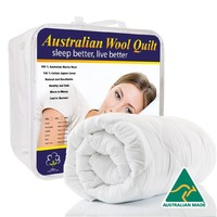 Australian Made Winter Weight Merino Wool Bed Quilt