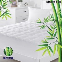 Single Size Bamboo & Microfibre Mattress Topper Pad