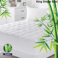 King Single Bamboo & Microfibre Mattress Topper Pad