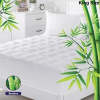 King Size Bamboo and Microfibre Mattress Topper Pad