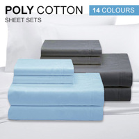 Poly Cotton Sheet Sets - 14 Colours!