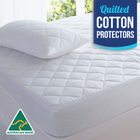 Luxury Quilted Cotton Mattress Protectors- Aus Made