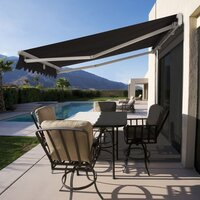 Roll Out Patio Window Door Outdoor Awning 3.95x2.5m