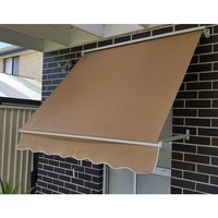 Outdoor Pivot Arm Roller Blind Awning in Beige 1.5m