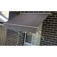 Outdoor Pivot Arm Roller Blind Awning in Grey 1.5m