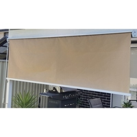 Straight Drop Outdoor Retractable Awning Beige 1.5m