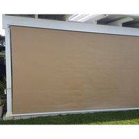 Straight Drop Outdoor Retractable Awning Beige 1.8m
