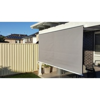 Straight Drop Outdoor Retractable Awning in Grey 2m