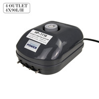 360L/h Aquarium Air Pump 4 Outlet