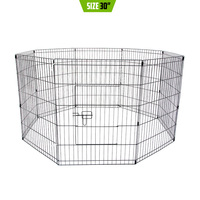 Pet Puppy Metal Playpen Enclosure 8 Panel 30in