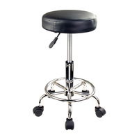 Black Round Salon Stool Chair with Hydraulic Lift
