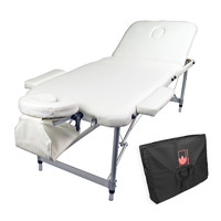 White Beauty Massage Table Chair Bed 70cm Portable