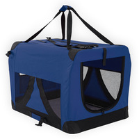XXXL Travel Cat Dog Pet Soft Crate Carrier in Blue
