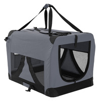 XXXL Travel Cat Dog Pet Soft Crate Carrier in Grey