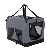 Grey Dog Soft Crate Puppy Pet Carrier L Portable