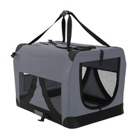 XL Travel Cat Dog Pet Soft Crate Carrier in Grey