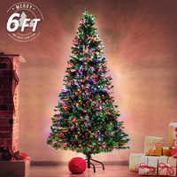 1.8m/6ft Green Christmas Tree Fibre Optic LED Light