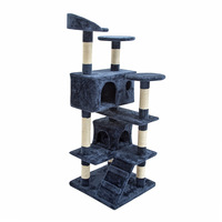Large 6 Level Cat Scratching Post Tree 132cm Blue