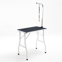 Height Adjustable Vinyl Mat Pet Grooming Table 78cm