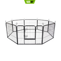 Heavy Duty Pet Playpen Enclosure w 8 Panels 31x24in