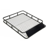Universal Steel Mesh Basket Roof Rack Black 1.23m