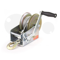Compact 2 Speed Hand Winch Hoist 2500lbs 10m Cable