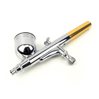 Dual Action Gravity Air Brush Kit Spray Gun