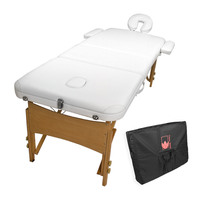 Handy Wooden Beauty Massage Table Chair Bed White