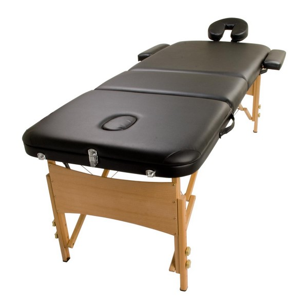 Wooden massage table handy bed 70cm black buy gifts for Massage gifts for her