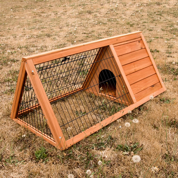Triangle rabbit guinea pig cage hutch w 2 doors buy for Buy guinea pig cage