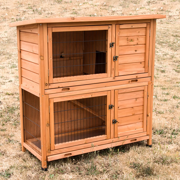 double storey rabbit hutch w pull out base tray buy