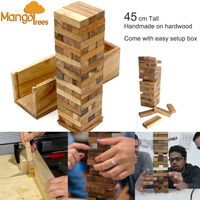 Deluxe Giant Jenga Tower of Wooden Puzzle Blocks