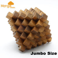 The Great Meteor 51 Bar Wood Brain Teaser 3D Puzzle