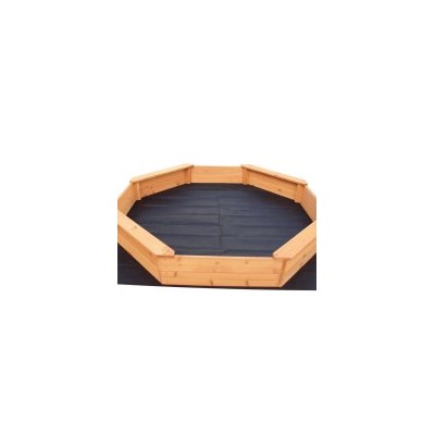 Kids Sandbox in Wooden Octagon Design with Cover