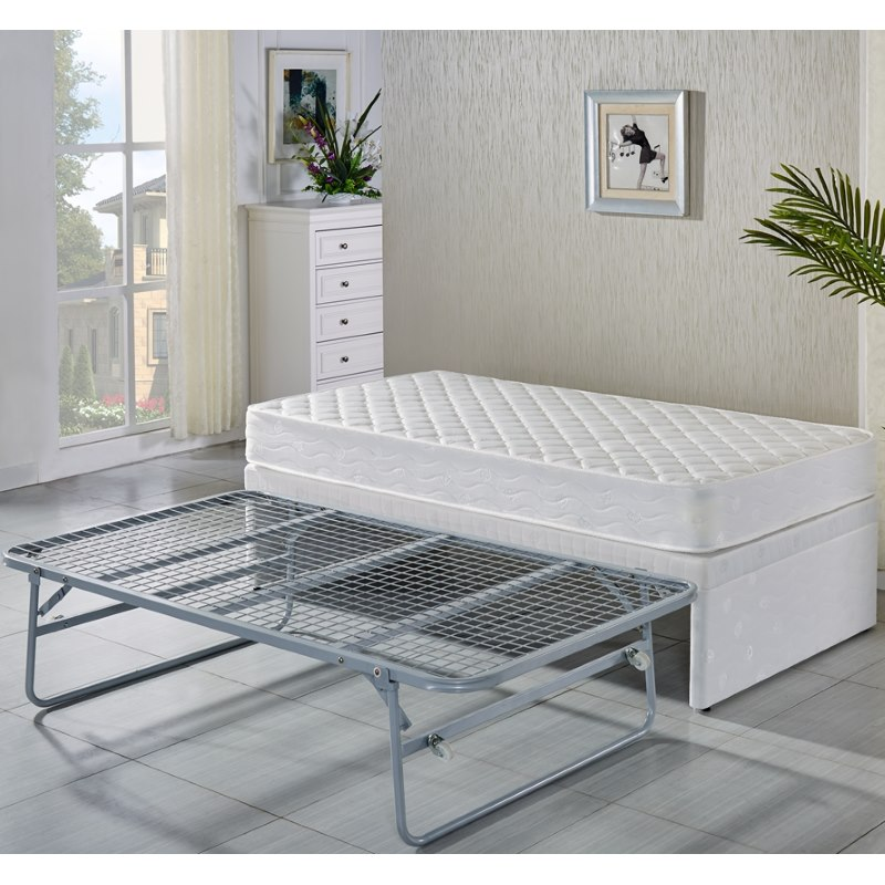 King Single White Bed Frame W Trundle 2 Mattresses Buy
