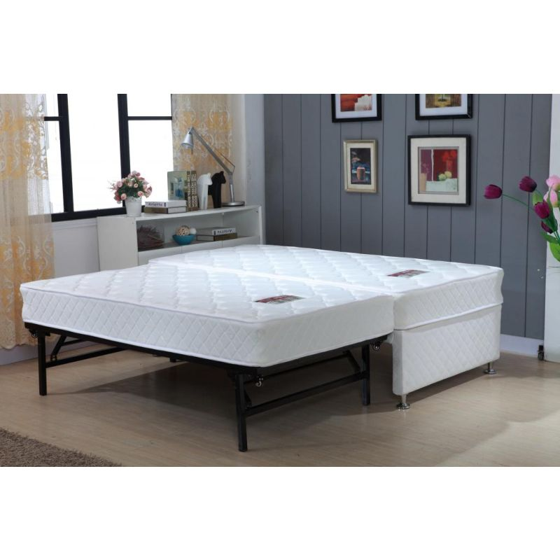 Single white bed frame with trundle 2 mattresses buy for White beds for sale
