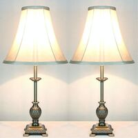 2x Baroque Designer Bedside Table Lamps
