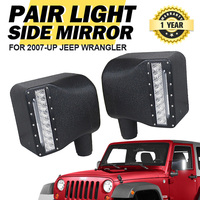 2x Jeep LED Side Mirrors w/ Indicator & Day Lights
