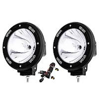 2x HID Road Spotlight Driving Light Black 7in 100w