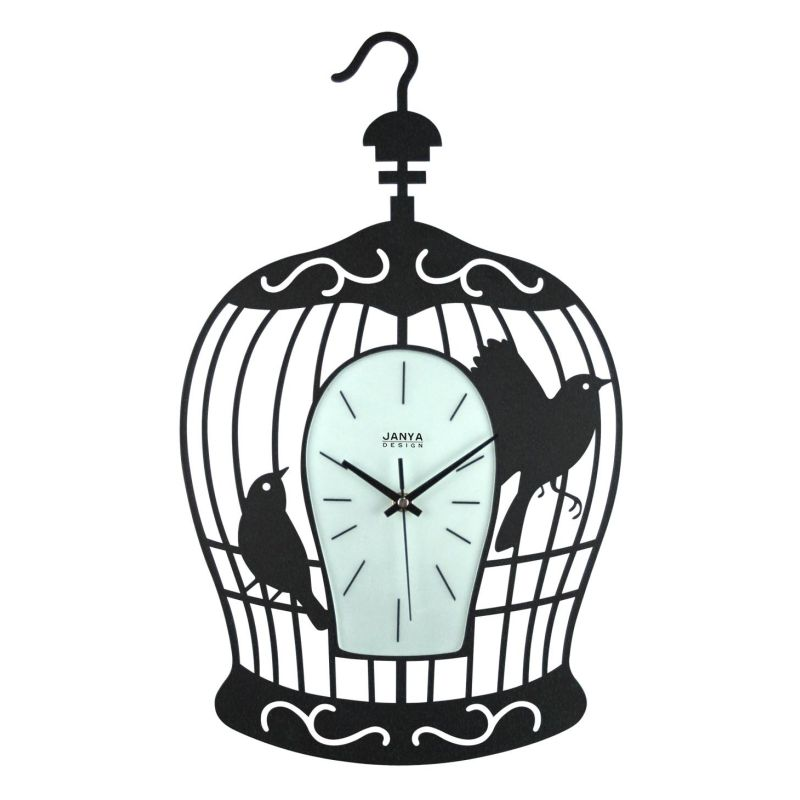 Janya Design Wrought Iron Wall Clock Bird Cage Buy Top