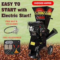 BBT 7HP Electric Start Tree Mulcher/Wood Chipper
