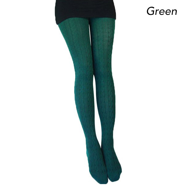 Knit Tights Pattern : Winter Knit Tights with Ribbed Pattern Design Buy Under USD30 Sale