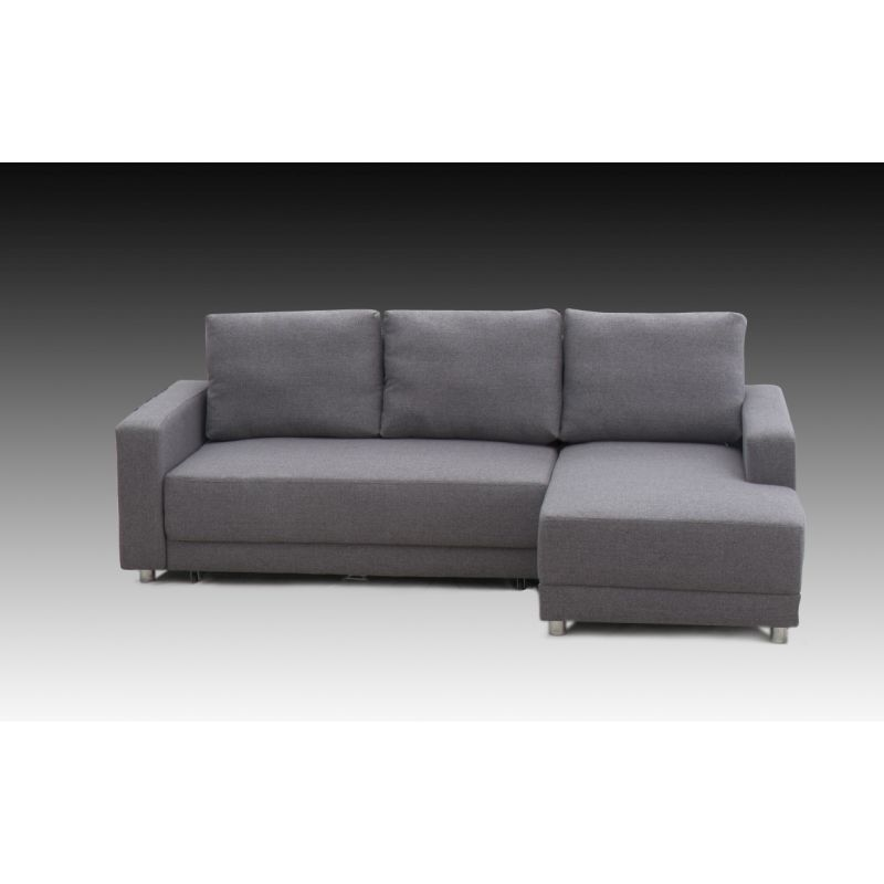 Jenna grey sofa bed w storage base chaise lounge buy for Buy chaise lounge sofa